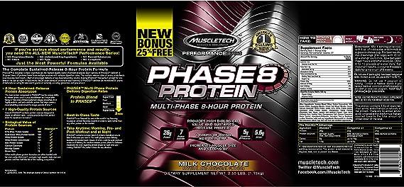 Muscletech Serie Rendimiento Phase 8 Proteínas, Fresa 910 g ...