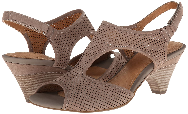 CLARKS Women's Evant Julie Sandal B00E49H7F4 11 D - Wide Light Grey Leather
