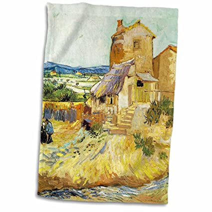 "3D Rose Van Gogh Old Mill Painting twl_47912_1 Towel 15"" x 22"""