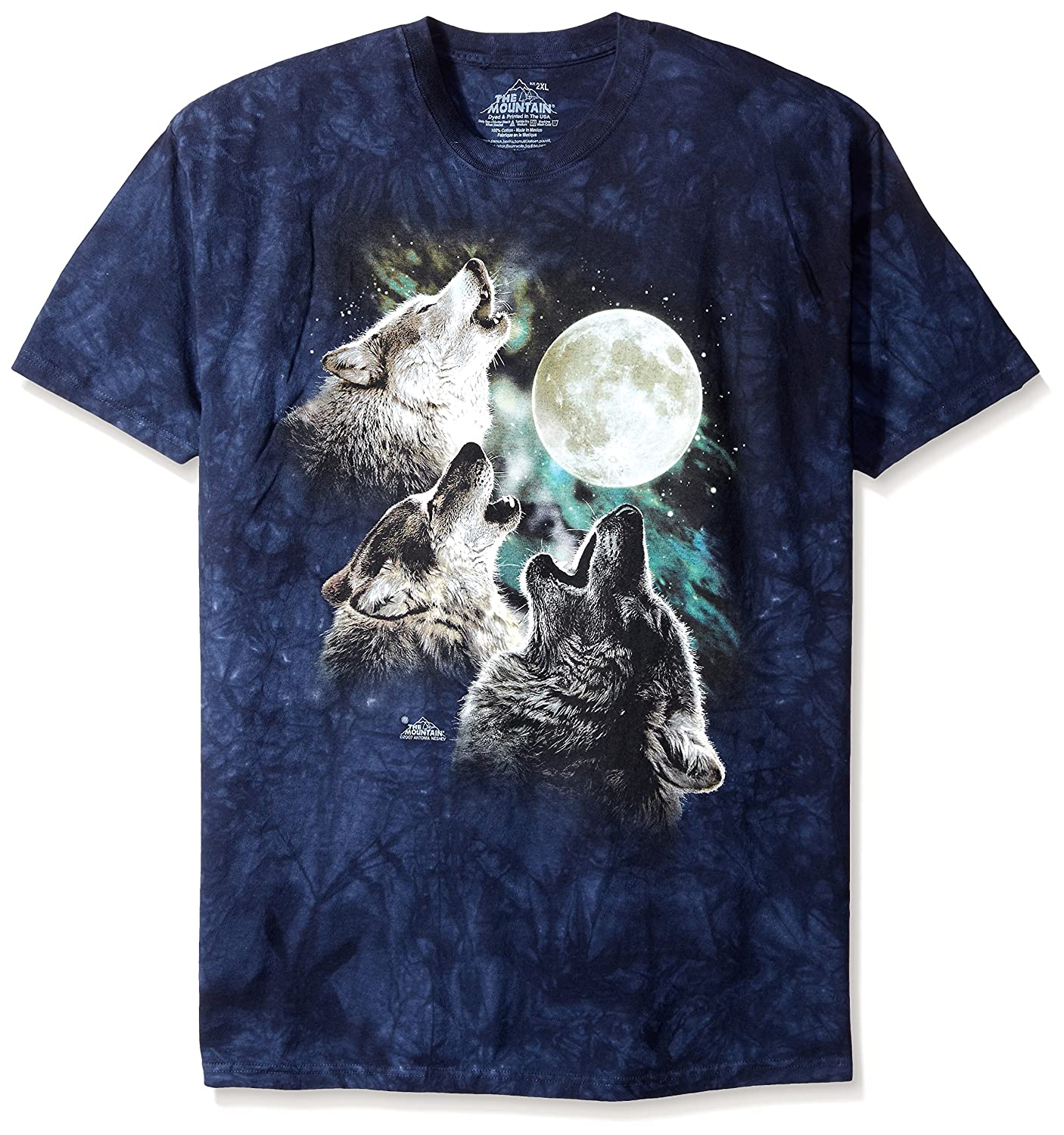 7d77d12bfcb Amazon.com  The Mountain Three Wolf Moon Short Sleeve Tee  Clothing