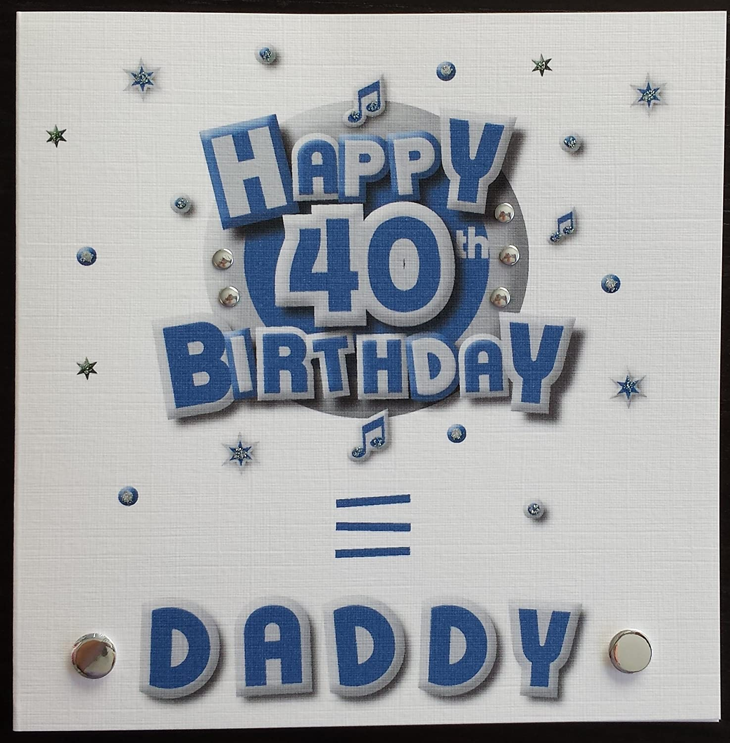 Happy birthday card daddy 40th birthday handmade card amazon happy birthday card daddy 40th birthday handmade card amazon kitchen home bookmarktalkfo Image collections