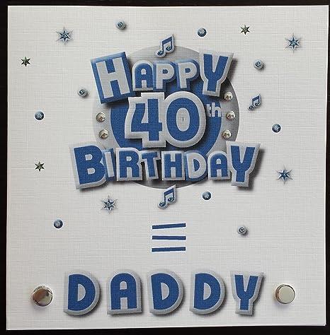 Amazon.com: Tarjeta de cumpleaños para – Daddy 40th ...