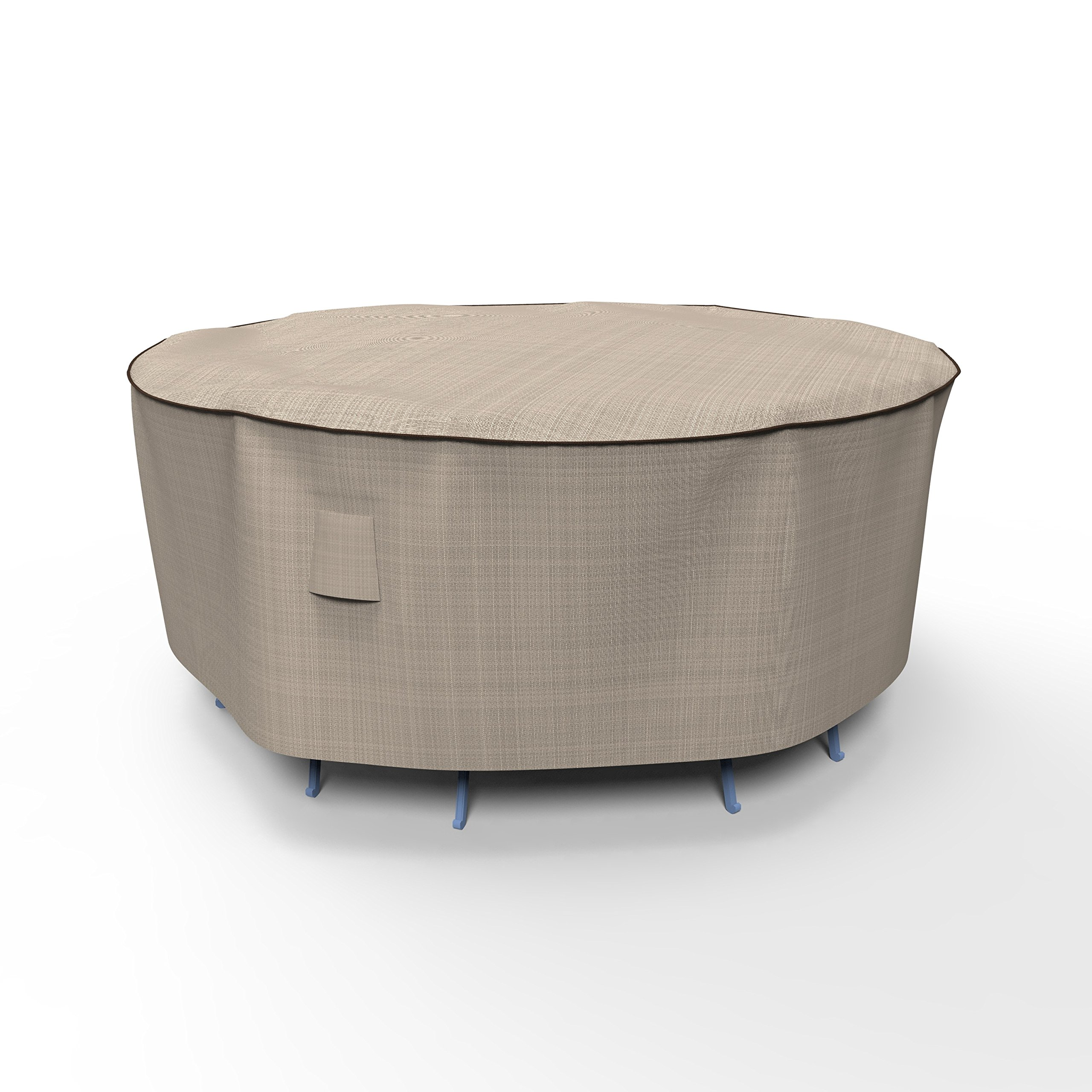 EmpirePatio P5A08PM1 Tan Tweed Small Round Table and Chair Combo Cover