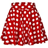 EXCHIC Women Stretch Waist Flared Mini Skater Skirt Casual Pleated Skirts