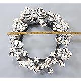 "Real Cotton Wreath - 18""-28"" - Adjustable Stems - Farmhouse Decor - Wedding Centerpiece"