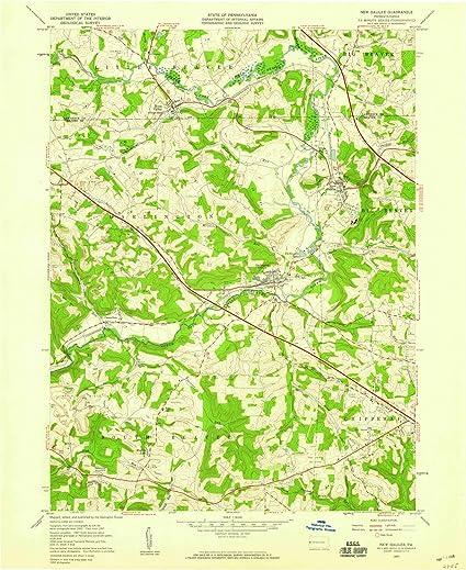 Amazon.com: Pennsylvania Maps | 1957 New Galilee, PA USGS ... on