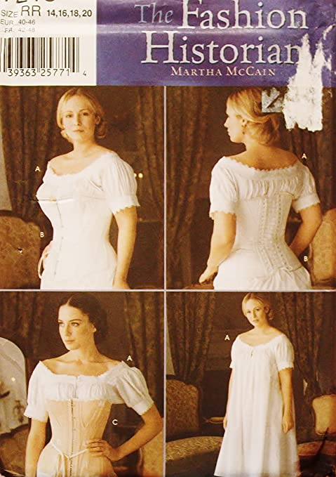 Simplicity 7215 Sewing Pattern Chemise Corset Undergarments