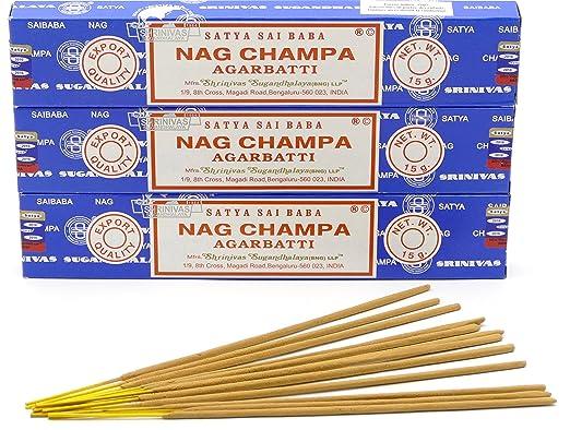8 opinioni per Satya Nag Champa–Bastoncini di incenso 15g Bastoncini di incenso/12 pz
