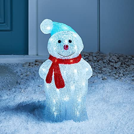 Light up led christmas snowman figure for indoor outdoor use by light up led christmas snowman figure for indoor outdoor use by lights4fun mozeypictures Choice Image