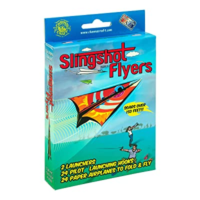 Slingshot Flyers Paper Airplane Kit: Toys & Games