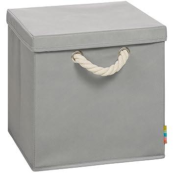 (Storanda) Aufbewahrungsbox LEO Mit Deckel   Faltbox   Korb   30x30x30 Cm    (