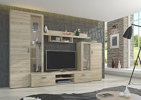 Nina, set di mobili da soggiorno moderni, dispositivo pluriuso ...