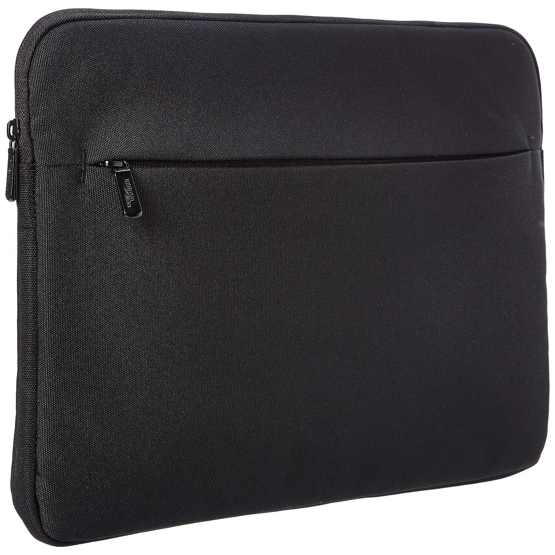 AmazonBasics Laptop Sleeve Case with Front Pocket, 15 Inch, Black