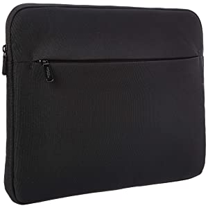 AmazonBasics Laptop Sleeve Case with Front Pocket, 15 Inch, Black