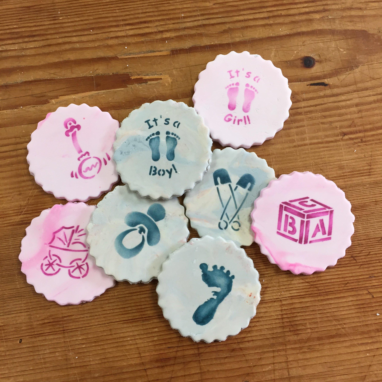 Designer Stencils C192 Baby Candy/Cookie Stencils, Small, Beige/Semi-Transparent