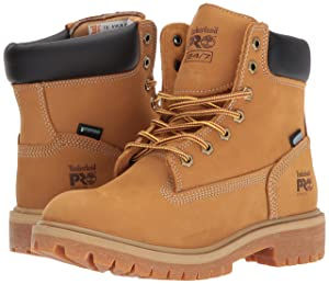 Timberland PRO Women's Direct Attach 6 Steel Toe Waterproof Insulated Industrial and Construction Shoe, Wheat Nubuck Leather, 6 M US
