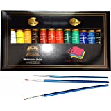 Watercolor Paint Set by Crafts 4 All 12 Premium Quality Art Watercolors Painting Kit for Artists, Students & Beginners - Perfect for Landscape and Portrait Paintings on Canvas (24x12ml) (12x12ml)