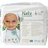 Naty by Nature Babycare Eco-Friendly Premium Disposable Diapers for Sensitive Skin, Size 4, 4 packs of 27 (108 Count) (Chemical, chlorine, perfume free)