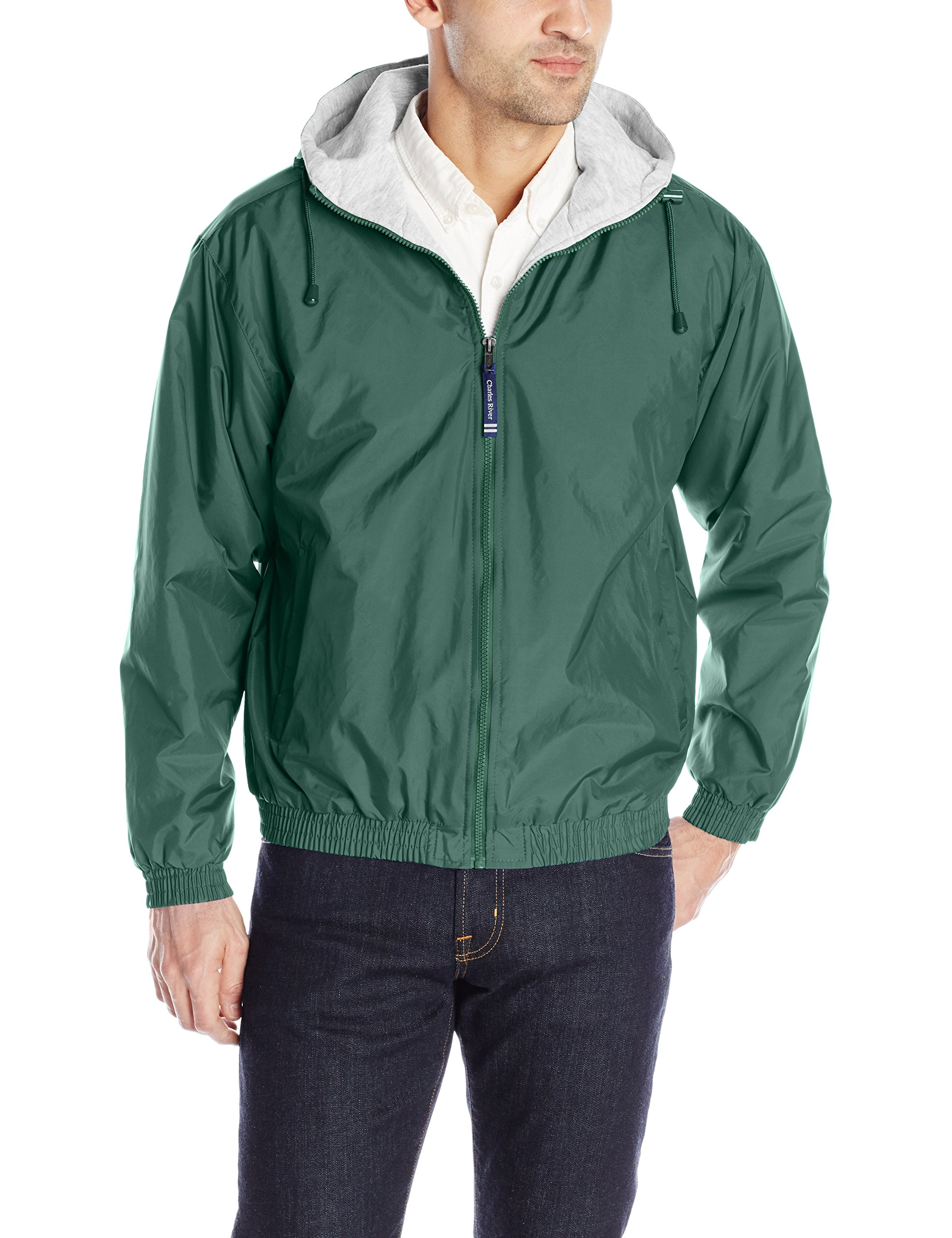 The ''Performer Collection'' Performer Nylon Jacket from Charles River Apparel,Forest green,Adult X-Large by Charles River Apparel