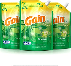 Gain Smart Pouch Liquid Laundry Detergent, Original, 48 Fluid Ounce (Pack of 3)