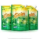 Gain Smart Pouch Liquid Laundry Detergent, Original, 48 Fluid Ounce (Pack of 3)