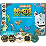 Logic Roots Monster Sock Factory Multiplication and Division Game - Fun Math Board Game for 7 - 10 Year Olds, Easy to Play ST
