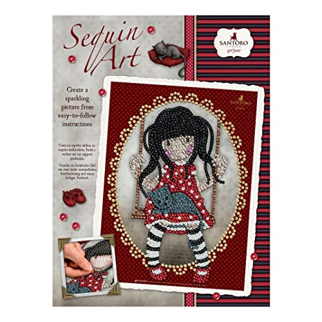 Amazon Com Sequin Art Gorjuss Ruby Sparkling Arts And Crafts