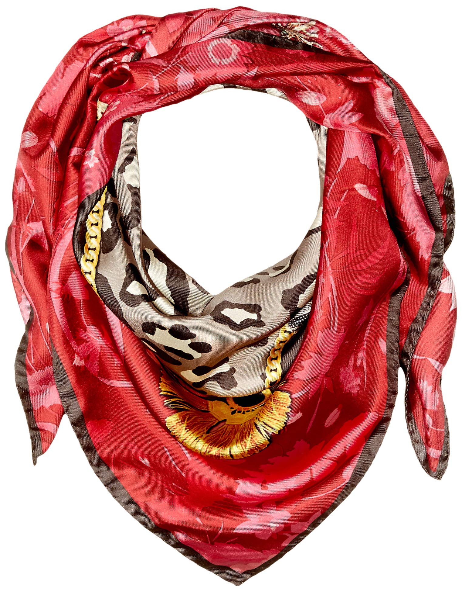 Lake Como SCARVES - Floral Jewel Scarves - Red Marsala