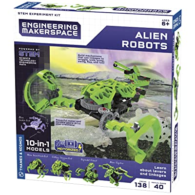 Thames & Kosmos Engineering Makerspace Alien Robots Science Experiment Kit: Toys & Games
