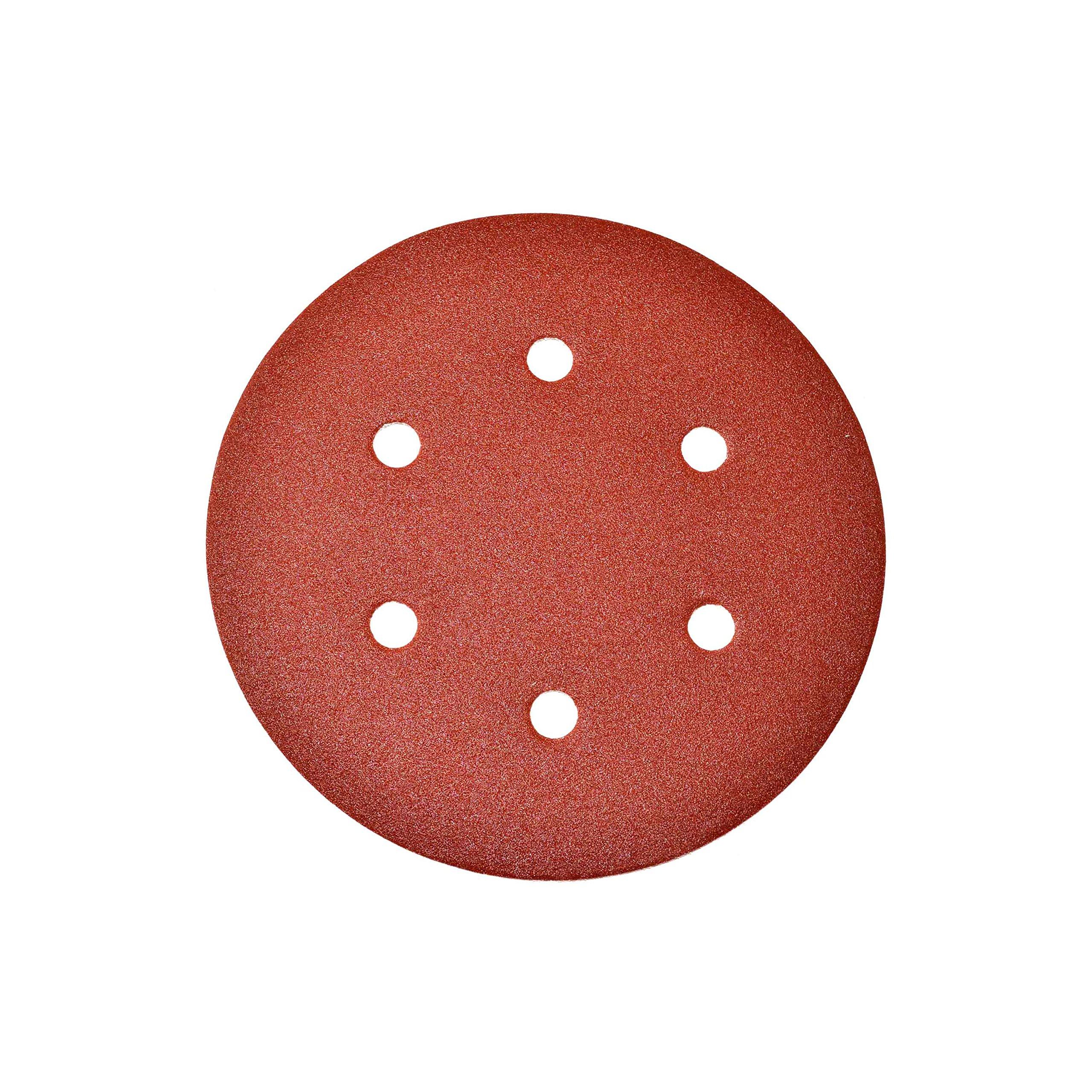 ALEKO 14SD04-10-180G 6 Inch 6 Hole 180 Grit Sanding Discs Sandpaper for Drywall Sander 10 Pack