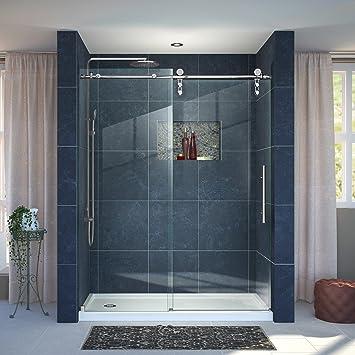 Dreamline Enigma Z 30 In D X 60 In W Frameless Sliding Shower Door