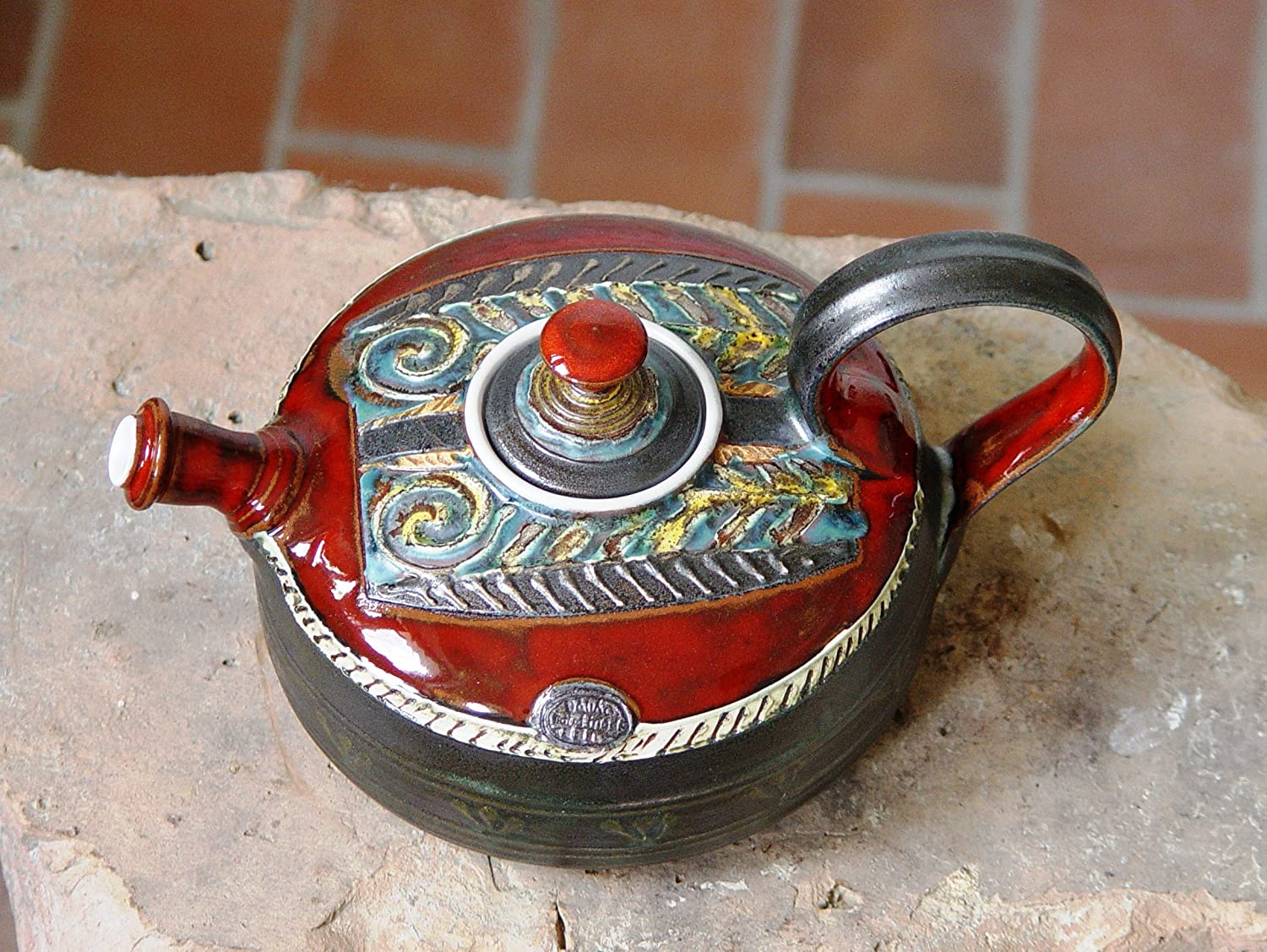 Ceramic Teapot - Handmade Pottery Tea Kettle - Clay Tea Pot - Artistic and Functional Pottery - Clay Art - Earthenware Teapot - Pottery Gift