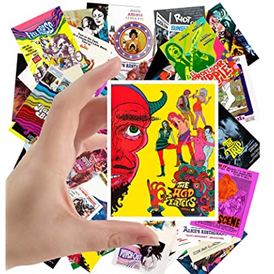 "Large Stickers (24 pcs 2.5""x3.5\"") Hippie and Psychedelic Movies Vintage Film Posters: Toys & Games [5Bkhe1004794]"