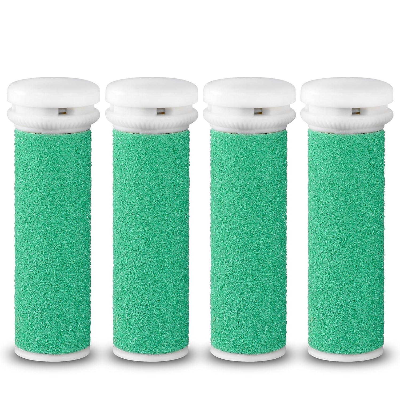 Testine rotanti di ricambio E-cron ® per levacalli Micro-Pedi Emjoi,duro ruvido, 4 ricarica. CLR-EMJ-HARD-4