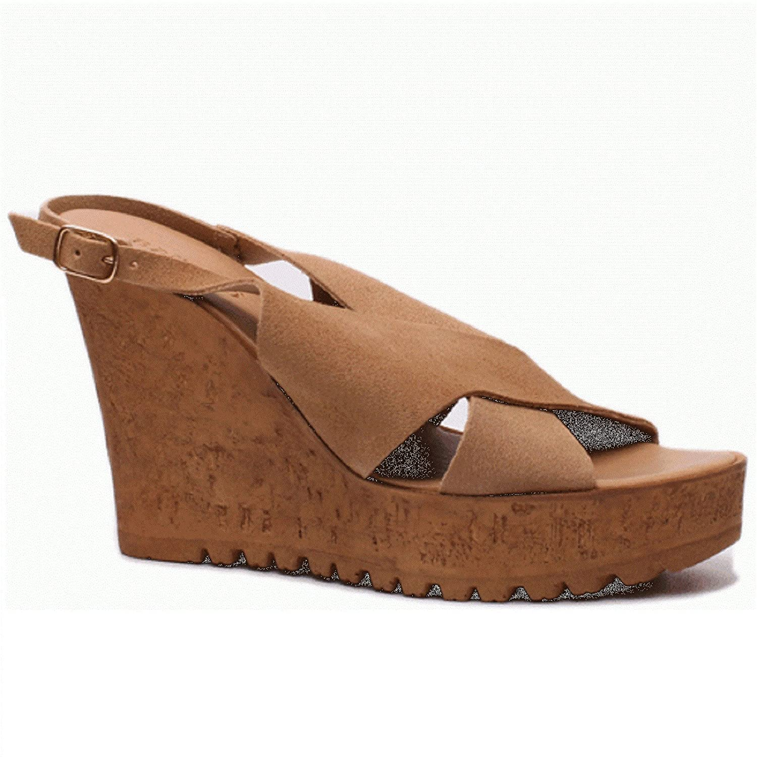 Bamboo NORRA-05S Nude Suede B075ZX366V 7.5 B(M) US