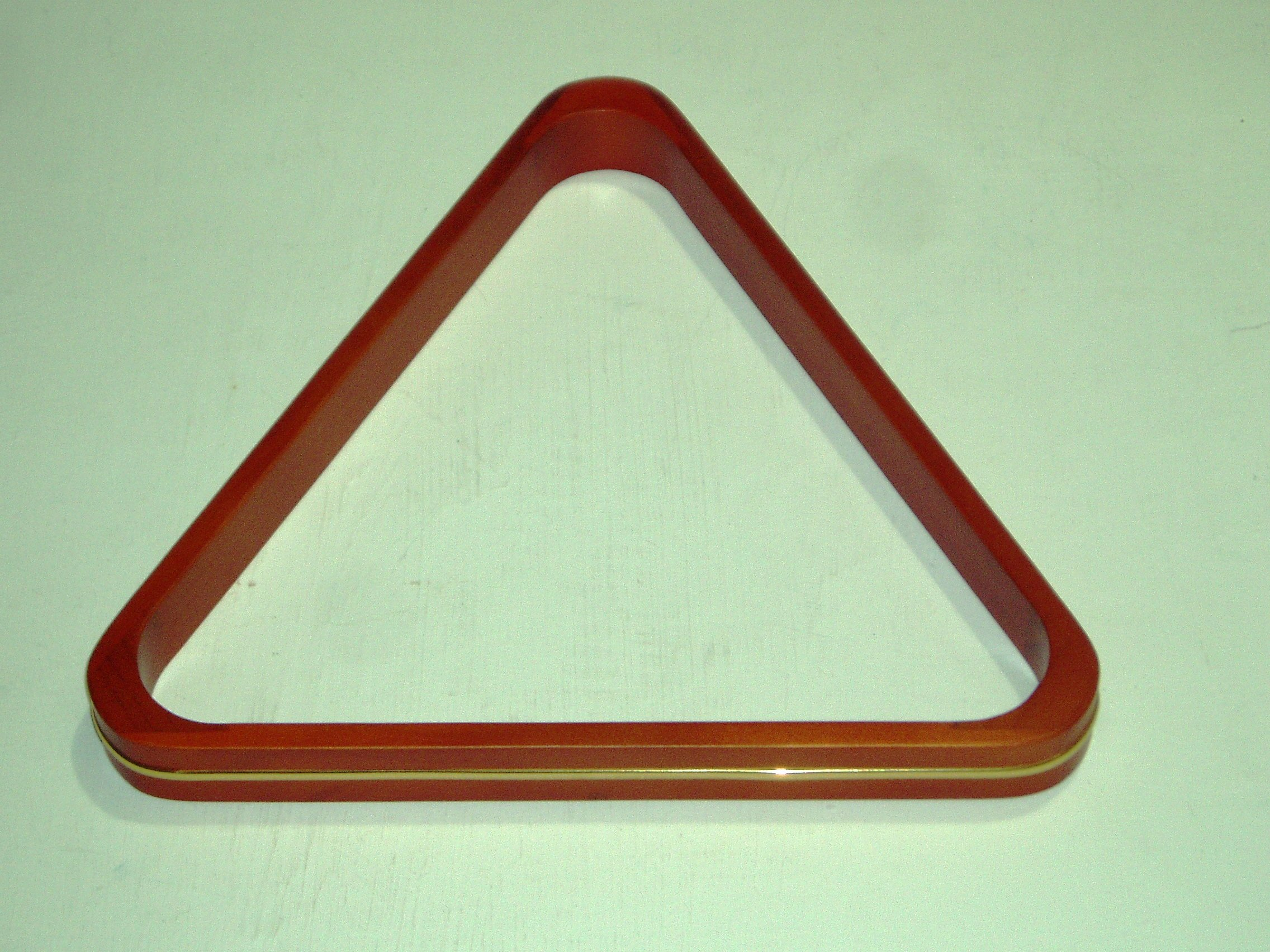 FULL SIZE WOODEN SNOOKER TRIANGLE WITH BRASS RIM (S347)