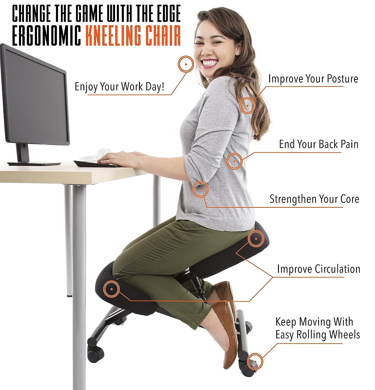 Amazon Edge Ergonomic Kneeling Chair Adjustable Height