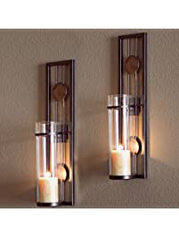 Delightful Decorative Metal Wall Sconce   Pillar Candle Holders   Elegant And Modern    Contemporary Design