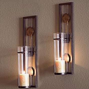 Merveilleux Decorative Metal Wall Sconce   Pillar Candle Holders   Elegant And Modern    Contemporary Design U2013