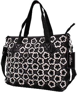 iblue womens leather flower messenger shoulder handbag large tote bag i668 - Large Tote Bags