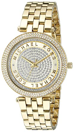 654df3db0875 Amazon.com  Michael Kors Women s Mini Darci Gold-Tone Watch MK3445 ...