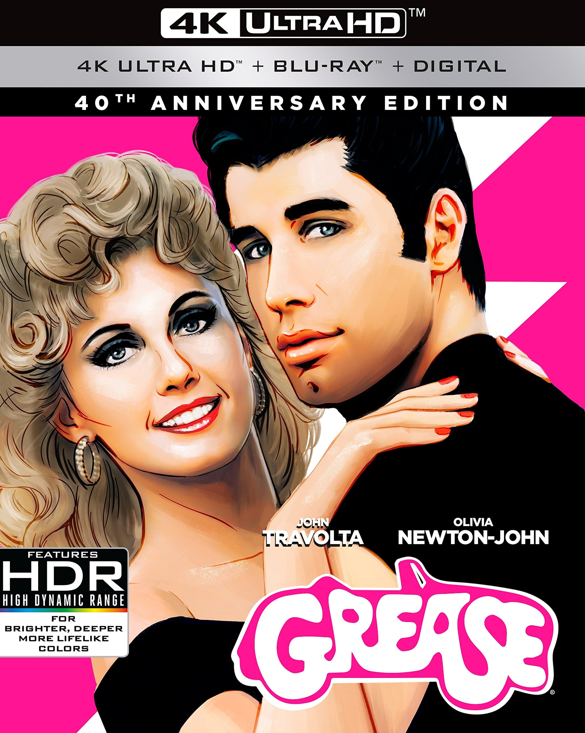 4K Blu-ray : Grease (40th Anniversary Edition) (With Blu-Ray, Anniversary Edition, 4K Mastering, Dubbed, Subtitled)
