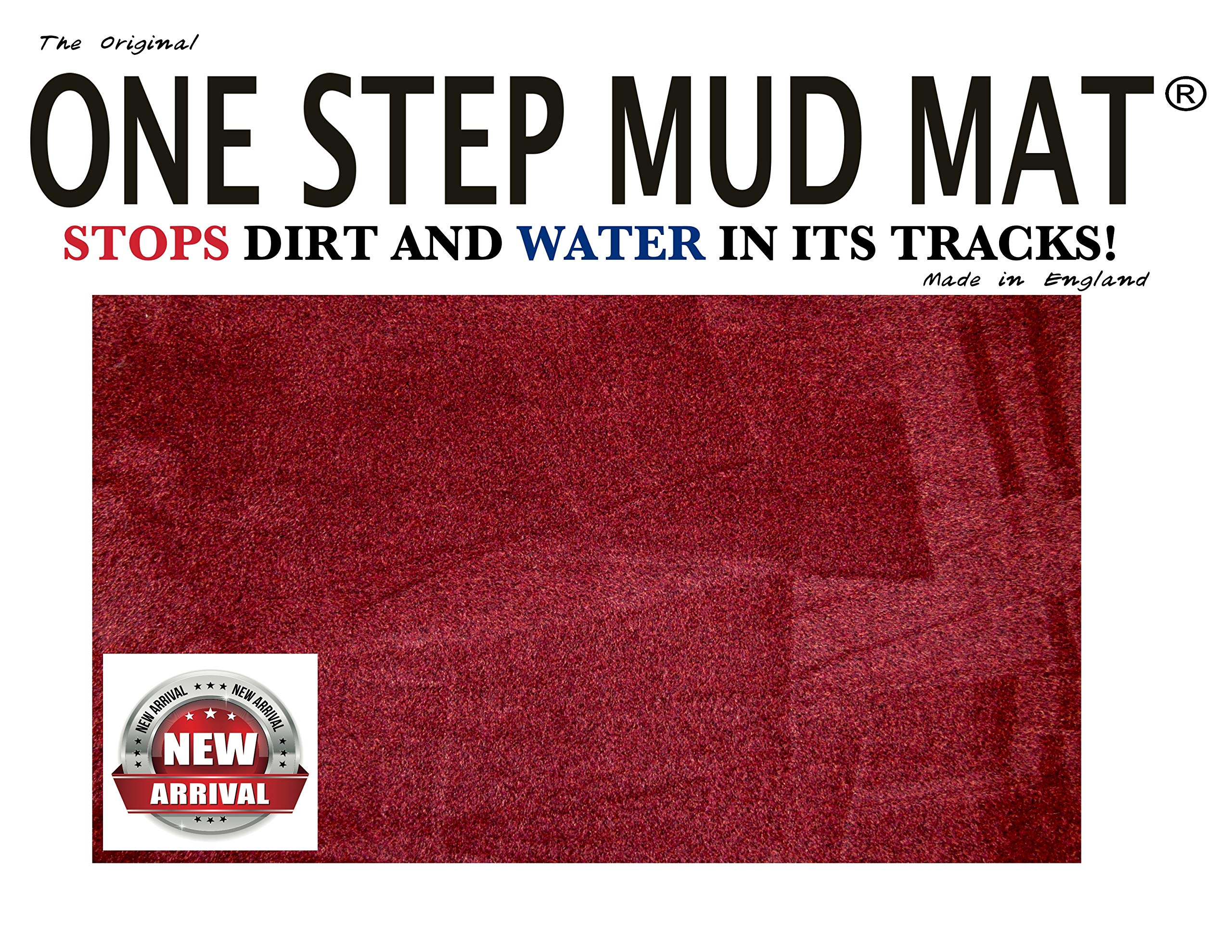 one Step mud mat one Step mud mat one Step mud mat one Step mud mat One Step mud mat (Large, Red) by ONE STEP MUD MAT STOPS DIRT AND WATER IN ITS TRACKS!