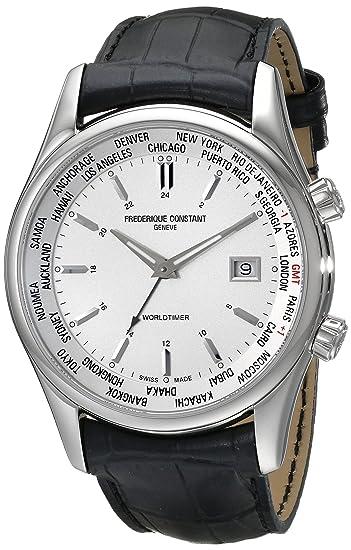 Frederique Constant - Reloj de pulsera hombre, piel, color negro