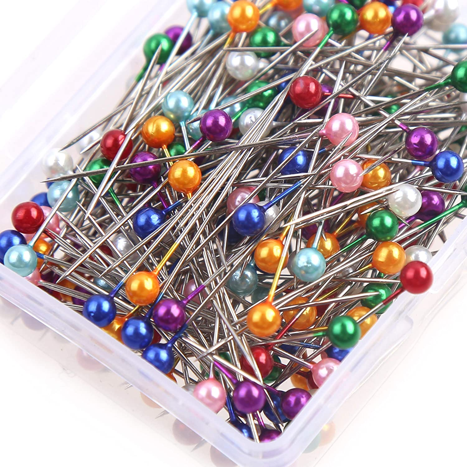 DIYASY 250 Pcs Sewing Pins,1.5 inch Straight Quilting Pins with Plastic Ball Head for Dressmaking with Box.
