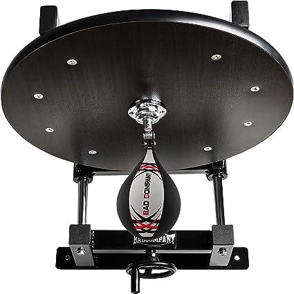 Drehkugellagerung schwarz und Leder Boxbirne medium schwarz//Boxapparat f/ür die Wandmontage BCA-38 Deluxe Speedball Plattform Set inkl