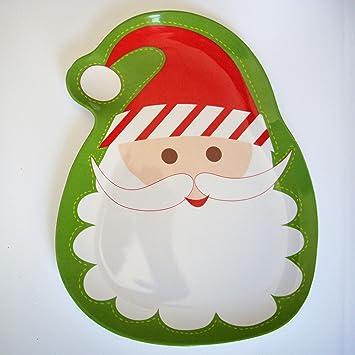 Bandejas Decorativas Platon Aperitivos Fiestas Navideñas con Imágenes de Navidad Christmas Santa Claus - Papa Noel