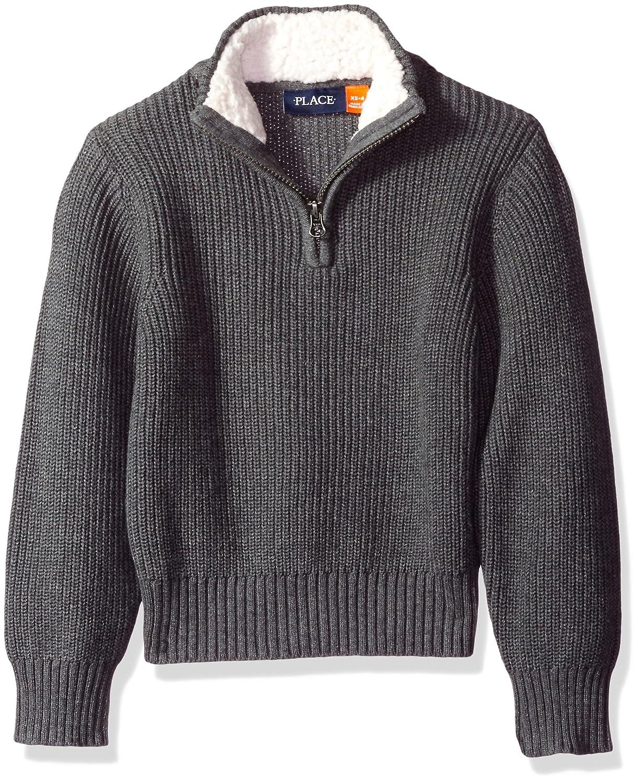 The Children's Place Boys' Toddler Boys' Mock Neck 1/2 Zip Sweater 2073493