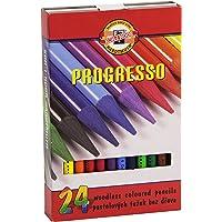 KOH-I-NOOR 8758 Progresso – 24 Sanatçı kalemi, tam uç, renkli kalem, çizim kalemi, kalemler