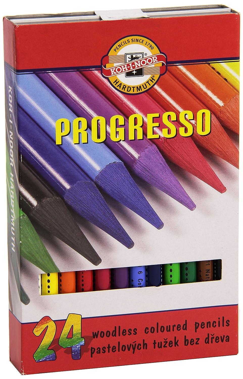 Koh-I-Noor Progresso 8758024011 - Farbstifte, Vollminenstifte in in in Holzbox - 24 Stück B005C9J6P4 | Spielzeugwelt, glücklich und grenzenlos  8789da